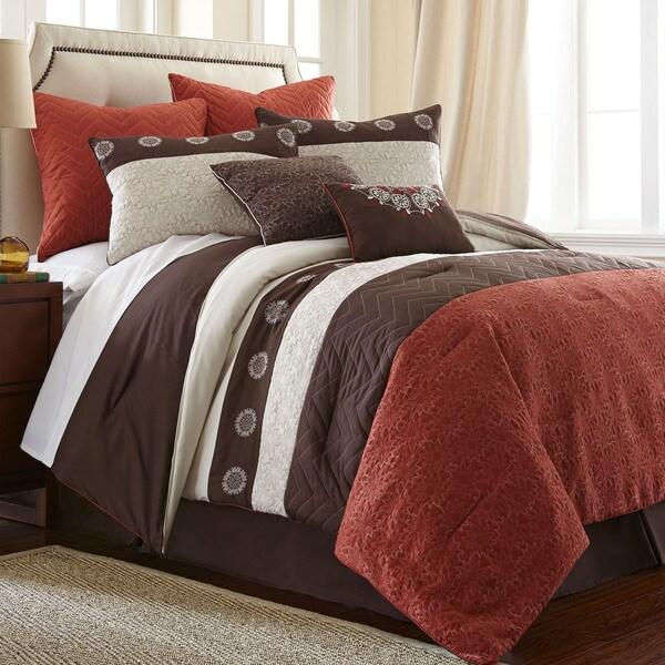 halsten rust 8 piece comforter set overstock shopping