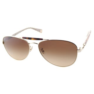Coach Women's HC 7041 L078 Alton 9176/13 Gold Tortoise Aviator Sunglasses