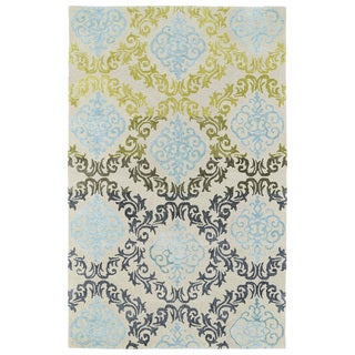 Hand-Tufted Ombre Multi Damask Rug (5' x 7'9)
