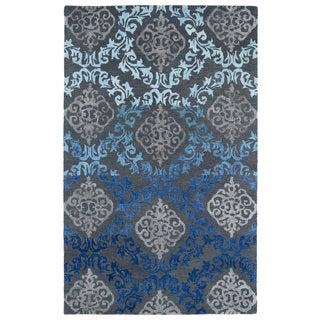 Hand-Tufted Ombre Ice Damask Rug (5' x 7'9)