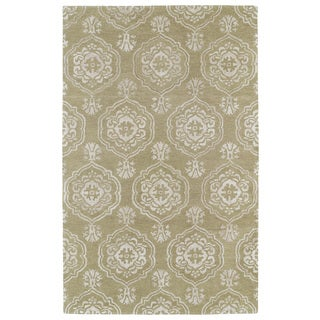Hand-Tufted Ombre Light Brown Medallions Rug (3'6 x 5'6)