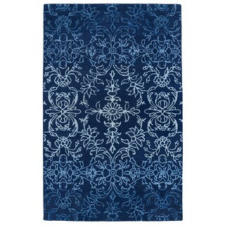 Hand-Tufted Ombre Navy Rug (8' x 11')