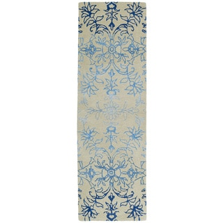 Hand-Tufted Ombre Linen Colored Rug (2'6 x 8')