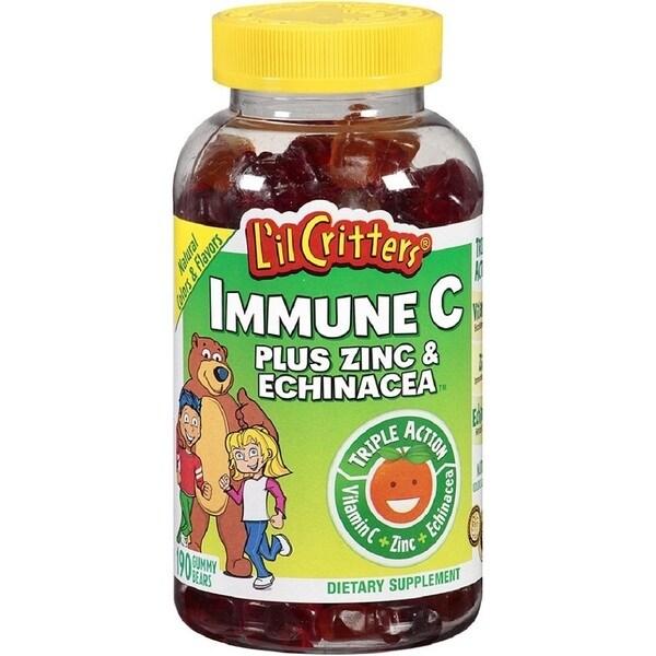 L'il Critters Immune C Plus Zinc and Echinacea Gummy Bears (190 Count)