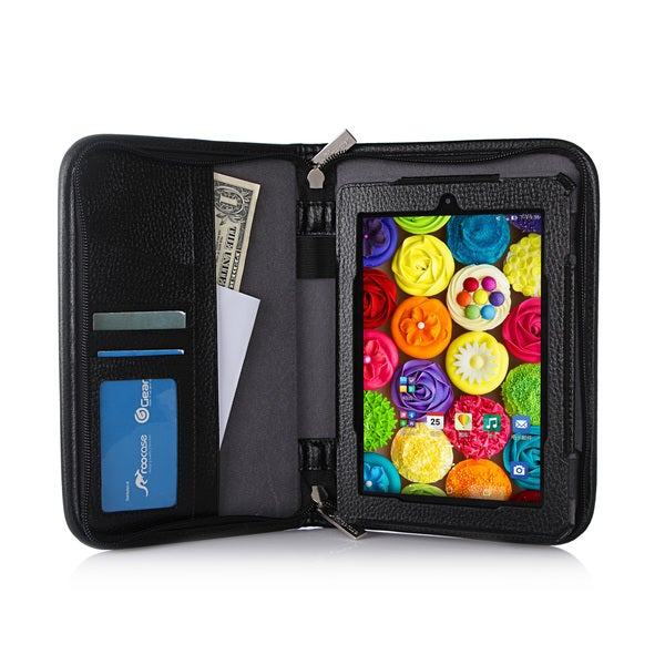 rooCASE Executive Genuine Leather Case Cover for Amazon Kindle Fire HD 7