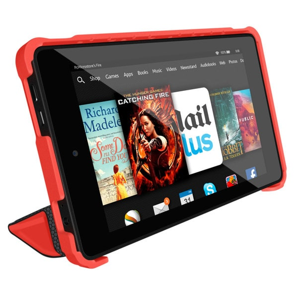 rooCASE Optigon 3D Slim Shell Folio Case Smart Cover Stand for Amazon Kindle Fire HD 6 (2014)