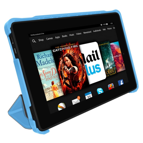 rooCASE Optigon 3D Slim Shell Folio Case Smart Cover Stand for Amazon Kindle Fire HD 7