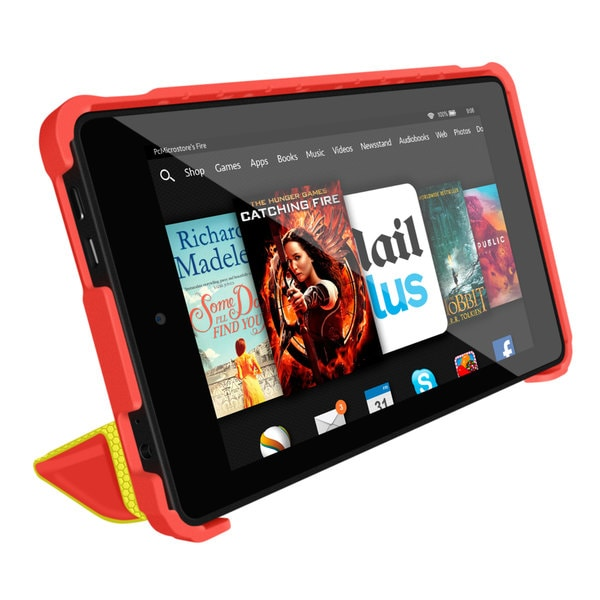 rooCASE Origami 3D Slim Shell Folio Case Smart Cover Stand for Amazon Kindle Fire HD 6