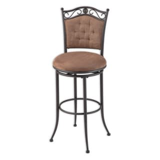 Fashion Bed Group Helena Microfiber Swivel 30-inch Barstool