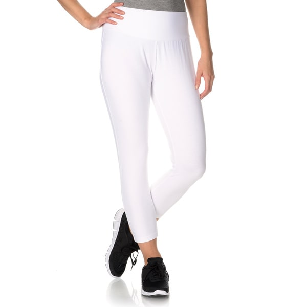 Teez-Her Women's The Skinny Capri Legging with Invisible Tummy Smoothing Panel