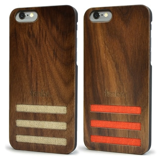 Walnut Wood Case with Linen for iPhone 6