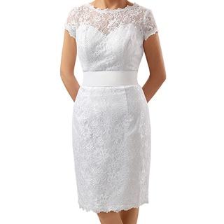 Attitude Couture Women's Short Lace Social Occasion Dress