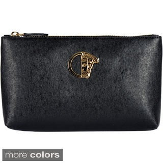 Versace Collection Women's Leather Cosmetic Case