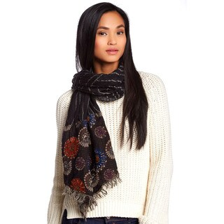 KC Signatures Embroidered Floral Woolen Scarf