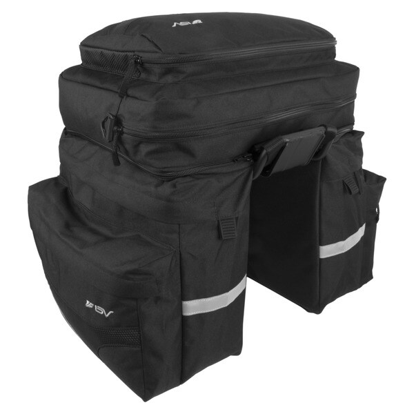 BV Bike Pannier Set with Removable Computer Bag and Shoulder Strap