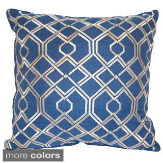 Geo Accent 18-inch Decorative Throw Pillow by American Pillow
