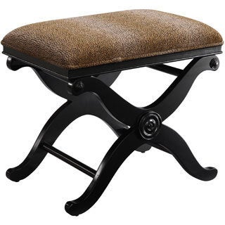 Christopher Knight Home Pin-dot Cheetah Microsuede Bench