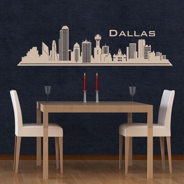 Dallas Skyline Wall Decal