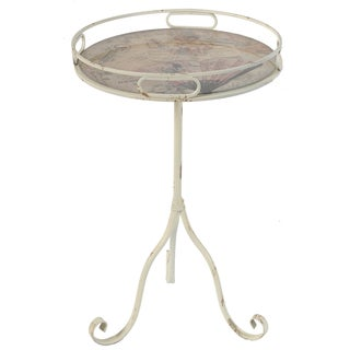 Findlay Vintage Cherub Top Rustic End Table