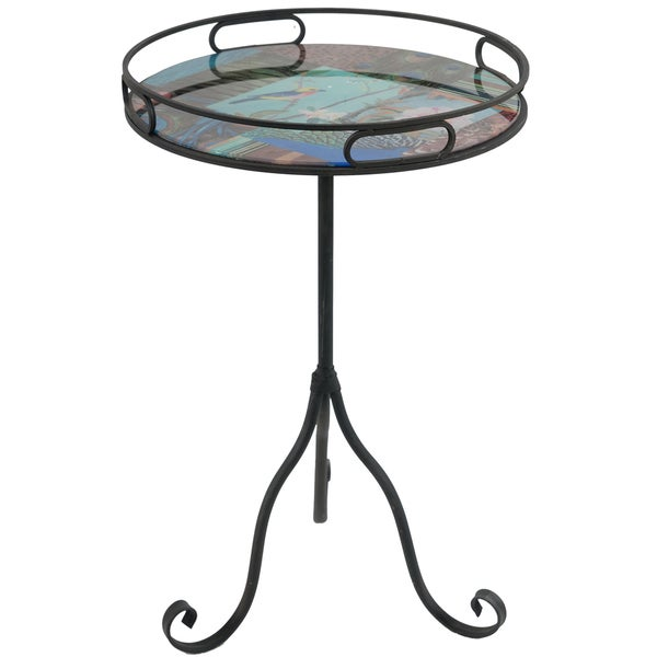 Findlay Black Metal End Table