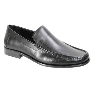 Calvin Klein Men's Black Moc-Toe Loafer