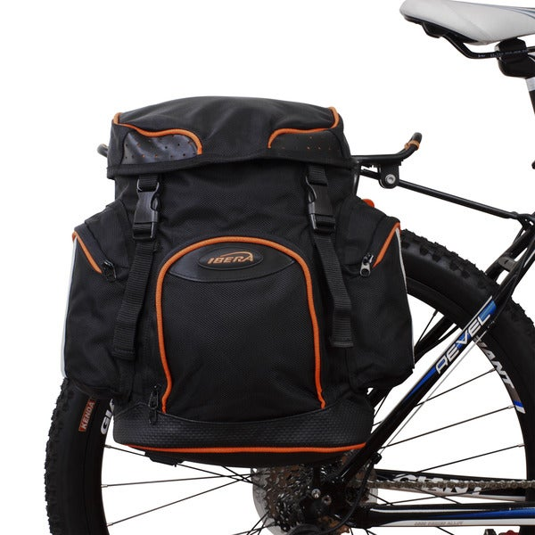 Ibera Black PakRak Clip-on Quick-release Pannier with Waterproof Rain Cover
