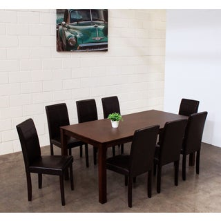 Warehouse of Tiffany Tafline Brown 9-piece Dining Set