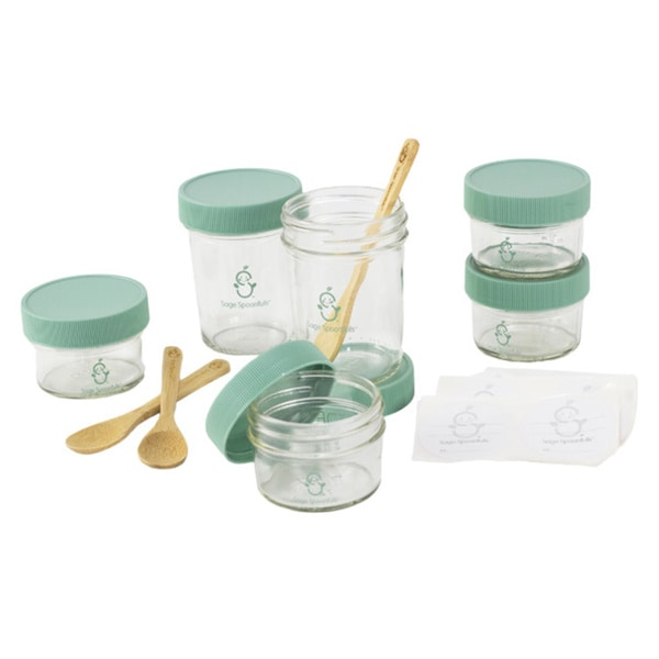 Sage Spoonfuls Storage System with Bonus Bamboo Feeding Spoons