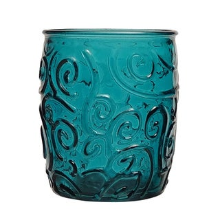 French Home Capri Teal 14-ounce Water Tumbler (Set of 4)