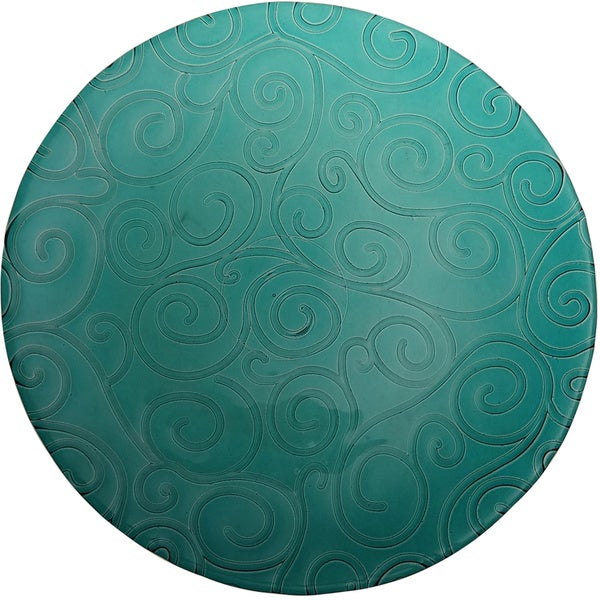 French Home Capri Teal Dinner Plate (Set of 4)