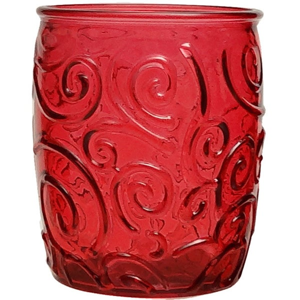 French Home Cranberry Red 14-Ounce Water Tumbler (Set of 4)
