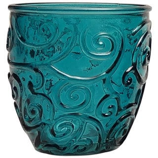 French Home Capri Teal 8-ounce Wine Tumbler (Set of 4)