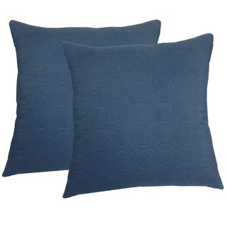 Microfiber Sonic Quilted Honeycomb 20-inch Throw Pillows (Set of 2)