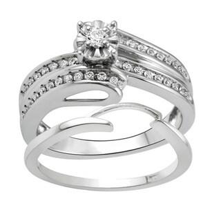 Bridal Symphony 10k White Gold 1/3ct TDW Diamond Bridal Set (I-J, I2-I3)