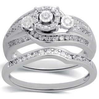 Bridal Symphony 10k White Gold 1/2ct TDW Diamond Bridal Set (I-J, I2-I3)