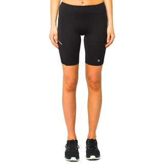Lija Women's Black Mid Thigh Athletic Shorts