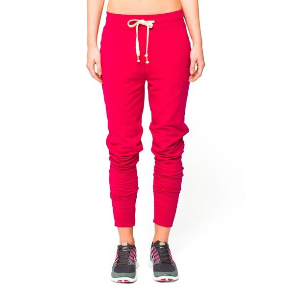 Lija Women's Crimson Varsity Lux Sweat Pants