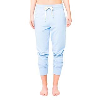 Lija Women's 'Varsity Lux' Pacific Blue Sweat Pants