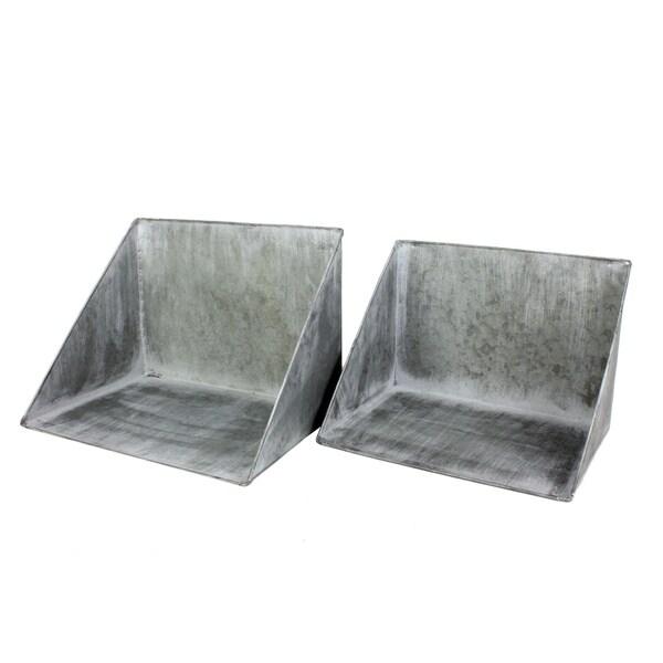 Galvanized Triangle Shelf (Set of 8)