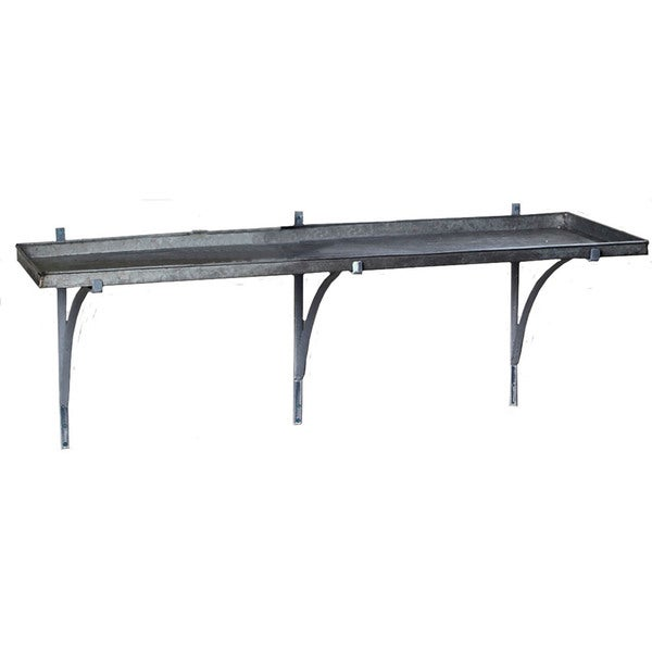 Galvanized Shelf with Brackets (Set of 2)