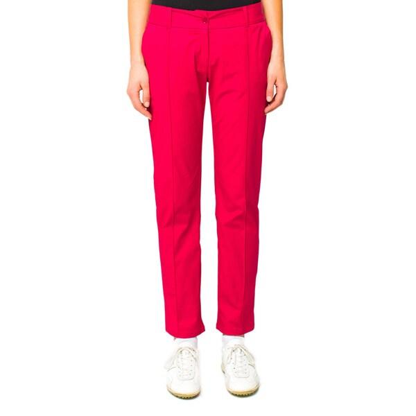 Lija Women's 'Terra' Crimson Pintucked Pants
