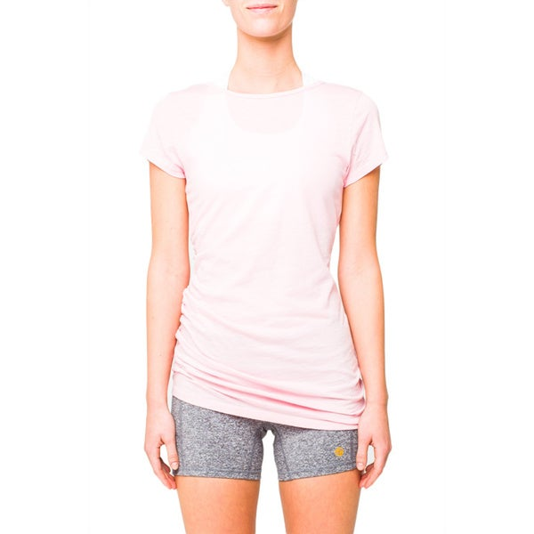 Lija Women's Serene Pink Side Gathered Top