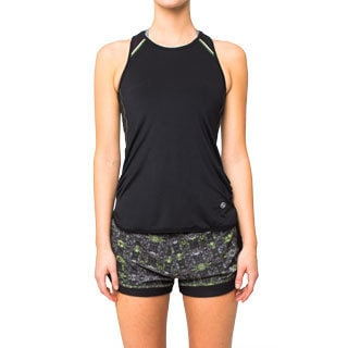 Lija Run Black Mesh Tank Top