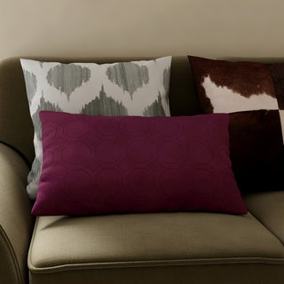 Microfiber Sonic Quilted Petals Throw Pillow (Set of 2)