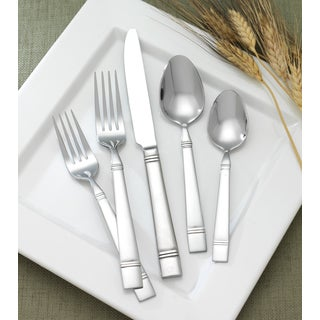 Duxbury 66-piece Stainless Steel Flatware Set