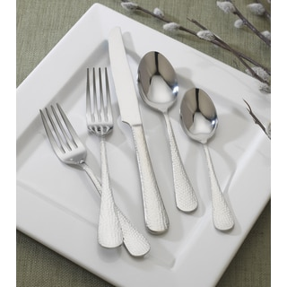 Reed and Barton English Hammered 86-piece Stainless Steel Flatware Set