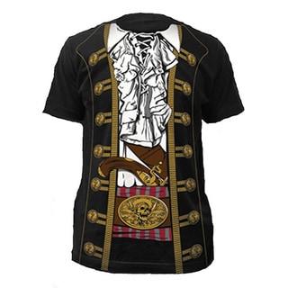Buccaneer Pirate Black Cotton T-shirt