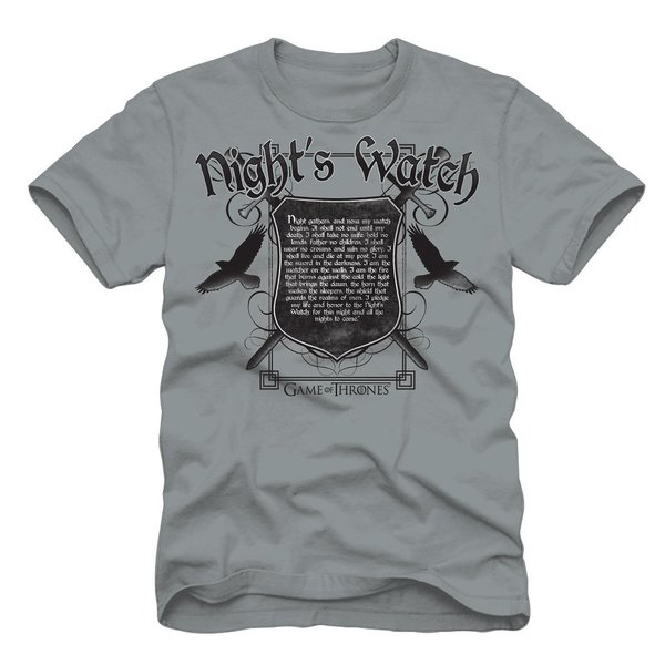 HBO Game of Thrones Night's Watch Oath T-shirt