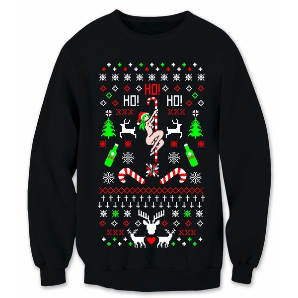 Ho Ho Ho Stripper Christmas Ugly Sweatshirt