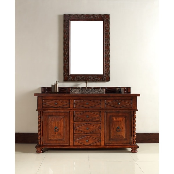 Continental 60-inch Burnished Cherry Single Vanity